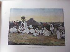 ALGERIE/Gravure 19°in folio couleur/ Douar de Fronda (près de Sidi-Bel-Abbès)