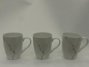(ref288MG2) Marble Effect Mugs x 3