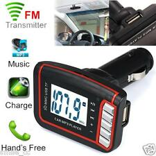 LCD Wireless FM Transmitter Car MP3 Player TF Card USB Drive SD/ MMC w/ Remote