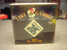 TAKE A GAMBLE Games of dice poker cards Board Game Distributed by Torigian new