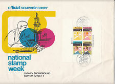 National stamp week mini sheet on Sydney Showground SPRINGPEX souvenir cover