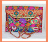 Sequin Patchwork Embroidered Silk Purse Clutch of Recycled Fabric from India!!