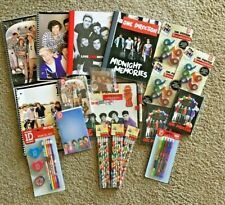 Lot of New One Direction 1D Fan Stationary, Journals,Dry Erase Set,Tape,Pens etc