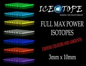 ICEATOPE 3MM X 10MM Isotopes GTLS Vial Trigalight Betalight BETALIGHTS CARP