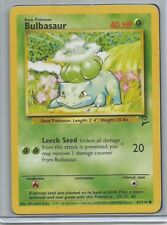 SEED POKEMON BULBASAUR 67/130 #1 CARD 1st Edition Used/High Grade Near Mint