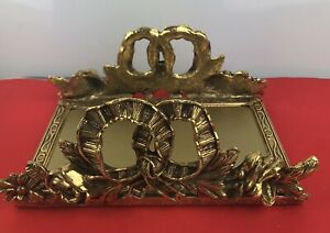 Vintage Heavy Facial Tissue Box Gold Toned Holder