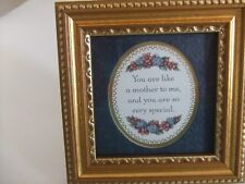 Mother's Picture Poem Framed under Glass by Artist Kathy Seek 4X4