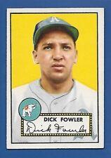 1952 Topps # 210 Dick Fowler - Philadelphia A's - EX - additional ship free