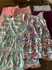 girls clothes bundle age 5-6 years Dress Leggings Top Next Uniqlo 7 Items