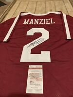 Johnny Manziel Autographed/Signed Jersey JSA COA Texas A&M Aggies