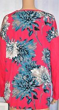 NEW SOUTH HOT PINK TOP WITH FLORAL BACK - SIZE 16 - ROCK CHICK, ROCK'N'ROLL