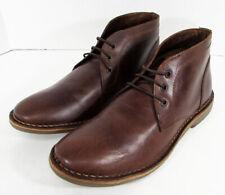 $80 Franco Fortini Mens Hudson Lace Up Chukka Boot Shoes, Dark Tan, US 9