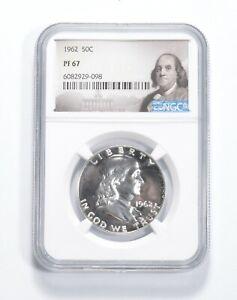 PF67 - 1962 Franklin 90% Silver Half Dollar - NGC *748