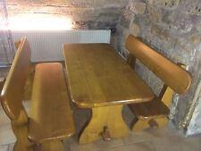 Massiv Holztische ,Sitzgruppe ,Sitzgarnitur, Bänke,Gartentisch