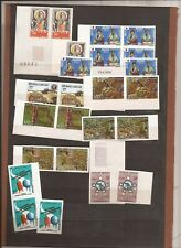 GABON-8 sets(w/about 45 stamps)- all unlisted imperf versions-nice