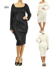 D74 New Ladies Size 14/16 Black Formal Cocktail Wedding Spring Party Dress Plus