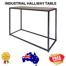 Industrial Hallway Table Side Entry Hall Furniture Natural Rustic Accent Wood