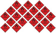 "20x Flammable Stickers each 25x25mm- 1x1"" for Laptop Cell Phone PC Helmet Tablet"