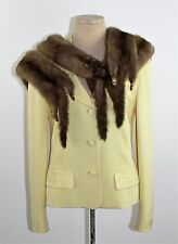 Vintage 1940's 50's Light Brown Honey Dawn 4 Whole Body Mink Stole Scarf Wrap