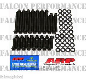 Chevy 283 327 350 383 400 ARP Performance/RACE Cylinder Head Bolt+Washer Kit Hex