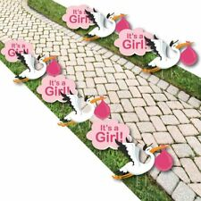 Girl Special Delivery - Baby Announcement Lawn Decorations - Outdoor Pink.