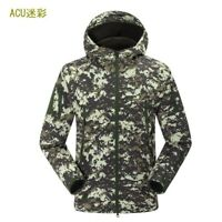 Mens Jacket Padded Camouflage Jungle Hunting Hiking Fishing Army Hooded Outdoor