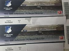 Zwei Top- Tickets : TSG 1899 Hoffenheim - FC Bayern München BLOCK C Reihe 3