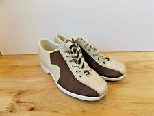 VTG AMF Style Comb Last Bowling Shoes Size 9 Mens Brown Tan Hipster