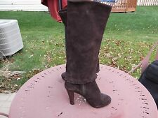 """Matisse """"Tantalize"""" Women's Size 7 M Brown Suede Tall Boots (1/2 Zip)"""