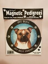 Pet Gifts Usa Magnetic Pedigrees Dog Magnet - Pit Bull My Best Friend