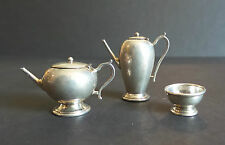 Nice Vintage English Sterling Silver Miniature 3-Pc. Coffee / Tea Set