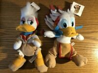 Walt DisneyLand Park Frontierland Donald Daisy Duck Bean Bag Plush Toy Set w/tag