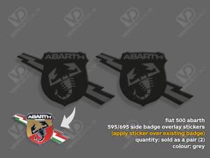 FIAT 500 ABARTH 595 695 TURISMO COMPETIZIONE GREY SIDE BADGE STICKERS
