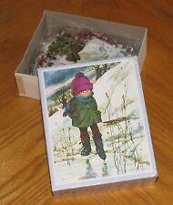 ICE POND - A Sally Augustiny Original - Vintage 1975 Fireside Jigsaw Puzzle