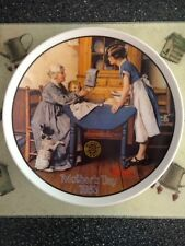 Norman Rockwell Mother's Day 1983 Collector Plate Add 2 Cups & A Measure of Love