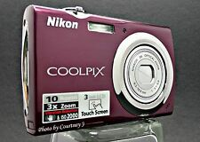 Nikon CoolPix S230 Plum Mechanically Reconditioned Digital Camera-ClearPic