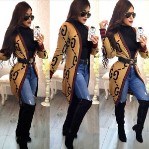 Autumn Womens Loose Casual Long Sleeve Open Front Breathable Thin Cardigans Coat