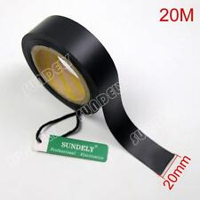 Sundely 20m - 20mm Wide Seam Sealing Tape - 2 Layer for Waterproof Fabrics Black
