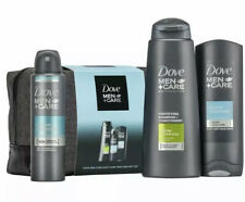Dove Men+Care 4-Piece Ultimate Body + Face Daily Care Wash Bag Gift Set