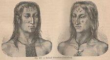 A5679 Colombia - Indiani Tèlembiès - Xilografia - Stampa Antica 1895 - Engraving