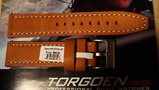 TORGOEN GENUINE FACTORY  REPLACEMENT LEATHER STRAP BAND  TAN 22MM
