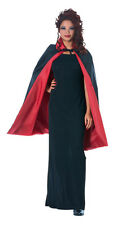 Black & Red Reversible Cape Vampire Dracula Medieval LARP Cosplay Adult Size