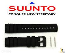 Suunto Elementum Auqa Original Black Rubber Strap Watch Band Kit w/ 2 Pins