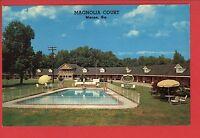 MACON GA MAGNOLIA COURT POOL 1967   POSTCARD
