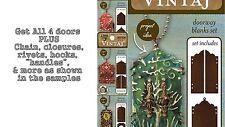 FULL KIT-All 4 Vintaj Door blank Sets + ALL PARTS as shown, DecoEmboss, DecoEtch