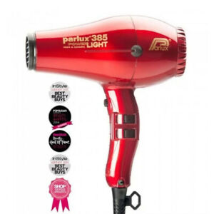NEW, Parlux 385 Powerlight Ionic Ceramic Dryer 2150W - Red
