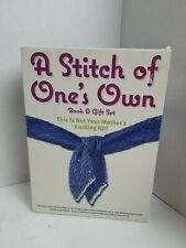 A Stitch Of One's Own Book & Gift Set Knitting Kit Brand new open box