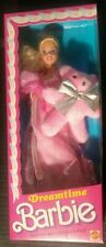 Dreamtime Barbie Doll with Teddy Bear #9180 Never Removed from Box 1988 Mattel