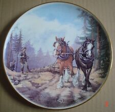 Hudson Middleton Collectors Plate Heavy Horses #4