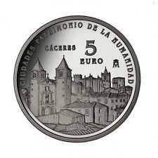 ESPAÑA 5 euro plata 2014 CACERES - Ciudades Patrimonio de la Humanidad CÁCERES